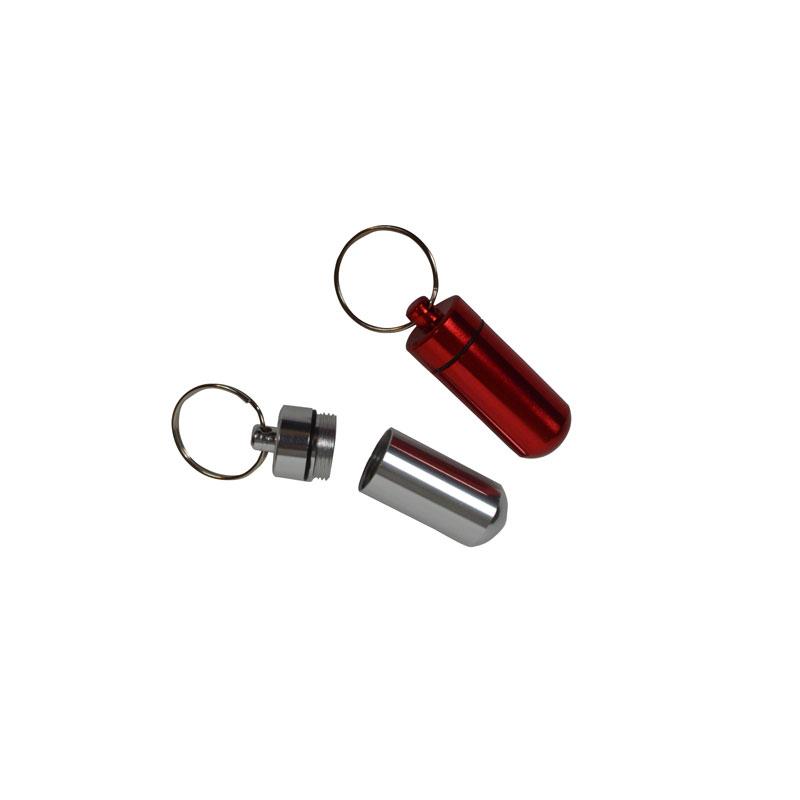 SET of 2 waterproof mini capsules with screw cap