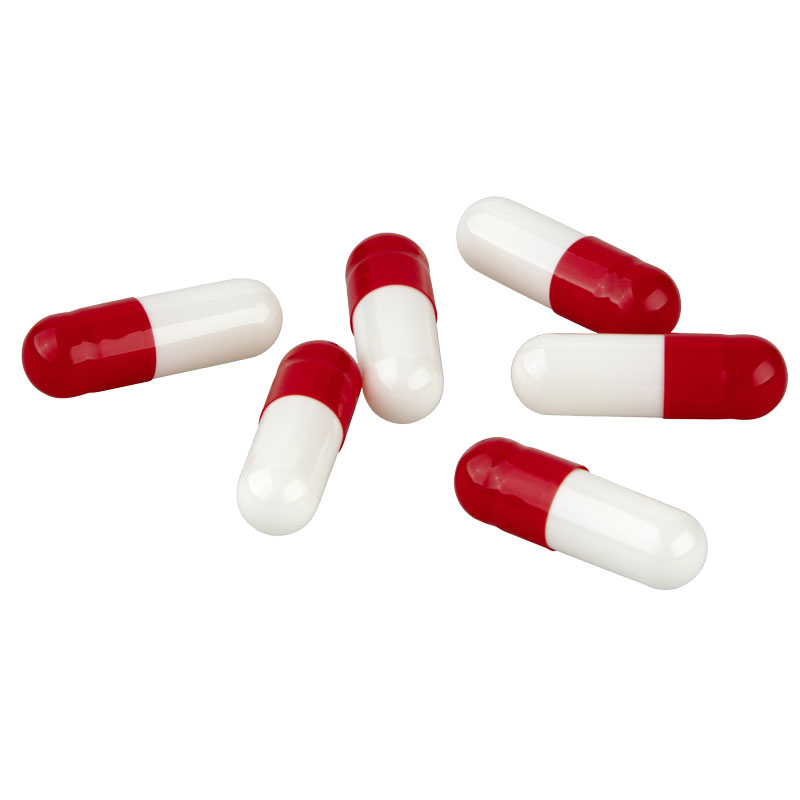 Gelatin capsules red/white - Size 0
