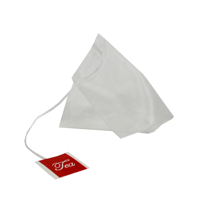 100 Pyramid tea bags size S with string and tag (55 x 70 mm)