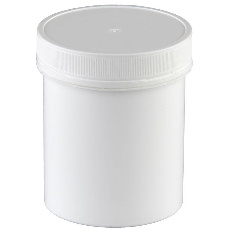 5 Pharmaz. Kapseldosen Größe XL, 250 ml., 65 x 85 mm, weiß