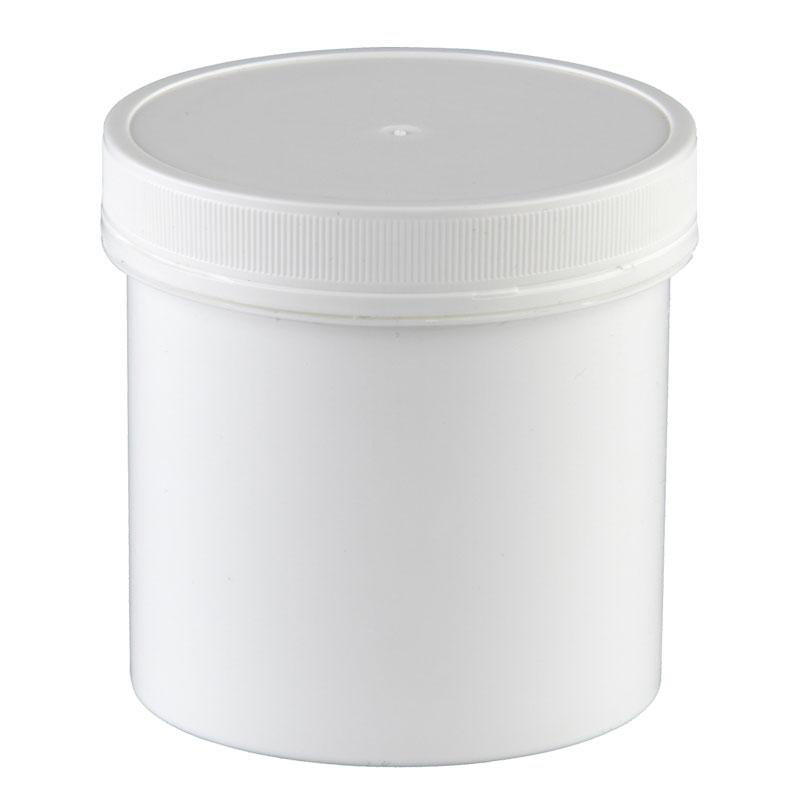 5 Pharmaz. Kapseldosen Größe XXL, 500 ml, 90 x 100 mm, weiß